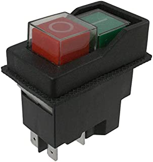 SWITCH PUSH DPST 16A 120V, (Pack of 3) (KJD17-21213-112)
