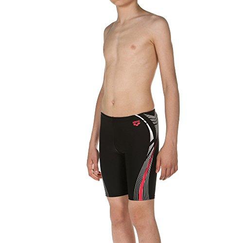 arena Jungen Sport Badehose Energy Jammer (Schnelltrocknend, UV-Schutz UPF 50+, Chlorbeständig, Kordelzug), Black (500), 164