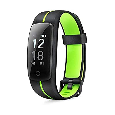 MICROTELLA Smart Fitness Tracker, Activity Watch Waterproof, Smart Band with Step Counter, Calorie Counter, Fit Bit Band, Fitness Tracker with Heart Rate Monitor for Android and iOS (Green/Black)