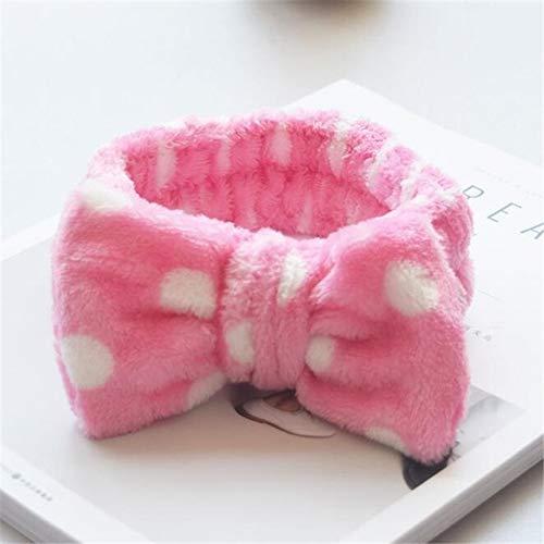 8 PcsBig Rabbit Ear Coral Fleece Head Band Soft Elastic Hair Ribbon SPA Bath Shower Make Up Wash Face Headband Hair Band Headwear 4