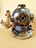 Casco de buceo antiguo de la Marina Marcos V Scuba Deep SCA antiguo casco de buceo Decalet decoración, tamaño completo, tanque de peces, juguete, soporte, calcomanía, disfraz, decoraciones de acuario