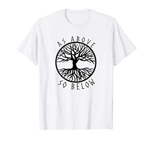 Wie oben, so unten Yggdrasil Baum des Lebens Pagan TShirt