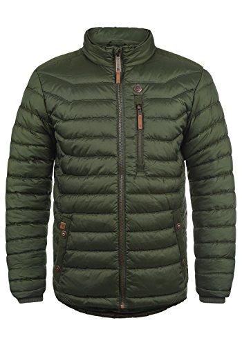 Blend Cemalo Herren Steppjacke Übergangsjacke Jacke mit Stehkragen, Größe:L, Farbe:Duffel Bag Green (77019)