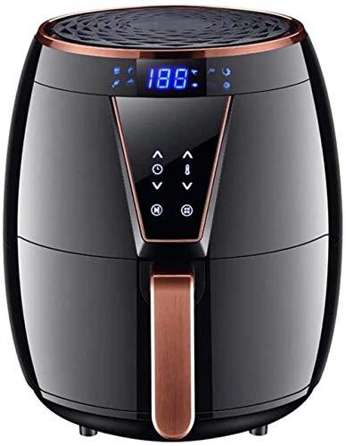 Freidora de aire sin aceite Freidora eléctrica de aire caliente Cocina saludable sin aceite Temporizador y controles de temperatura Olla antiadherente Fácil de limpiar