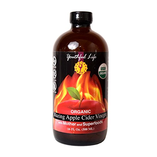 Blazing Apple Cider Vinegar, Fire Cider Tonic, ACV, with Mother and Superfoods, Organic, Raw, Unfiltered, Unpasteurized, Probiotic, Ideal Detox Cleanse, Tasty Seasoning Meats, Marinades