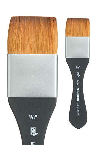 Princeton Aqua Elite, Series 4850, Synthetic Kolinsky Watercolor Paint Brush,Mottler, 1-1/2 Inch