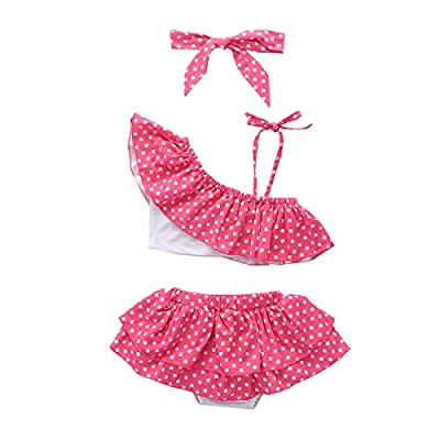 Girls Tankini Swimsuits Toddler 2 Piece Swimsuit Girl Halter Sport Bikini Baby Girl Bathing Suits 12-18 Months