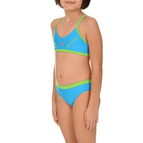 arena Mädchen Bikini Sporty Top, Turquoise, Energy-Green, 116, 1B126