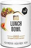 nu3 Lunch Bowl Orgánico 400 g – Guiso saludable de lentejas con vegetales y especies - Comida rápida para el trabajo – Almuerzo instantáneo para la oficina – Vegano, sin gluten y sin lactosa