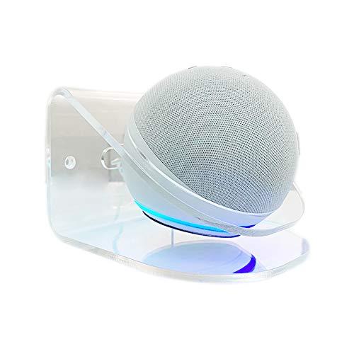 Ousyaah Soporte de Pared para Echo Dot (4.a Generación), Soporte Echo Dot de 4.a Generación, Soporte para Altavoz Inteligente, Soporte Transparente, Accesorios Alexa