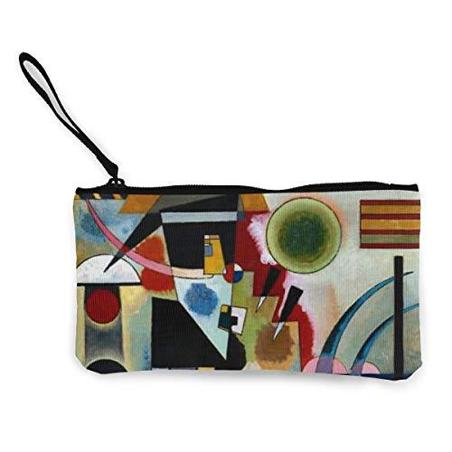 Kandinsky - Portafogli in tela a dondolo squisito portamonete, piccola borsa in tela per monete è utilizzata per contenere monete e altri oggetti