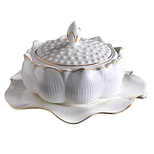 HGXC Cuenco de cerámica con Tapa Cuenco de Sopa tónico Nido de...