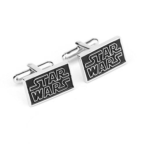 Noir Star Wars bouton de manchette avec boîte-cadeau parfait pour cadeau d'anniversaire et toute occasion