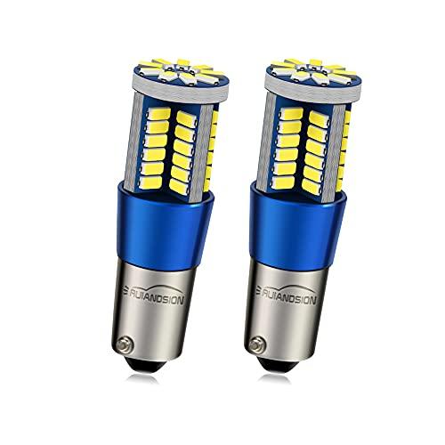 Ruiandsion BAX9S Ampoules LED 9-30V Blanc Canbus 4014 57SMD Feux de recul LED (pack de 2)
