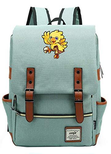 Final Fantasy Chocobo Backpack Rucksack Schultasche Cosplay Tagesrucksack Teenager Blau