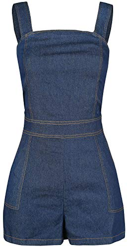 VOODOO VIXEN Denim Playsuit Jumpsuit Blauw XL