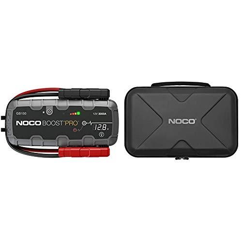 NOCO Boost HD GB150 3000 Ampere 12 Volt UltraSafe tragbares Lithium-Autobatterie-Starthilfe-Pack & GBC015 Pro Eva Schutzetui für GB150 Boost UltraSafe Lithium-Starthilfe und Powerbank, Case