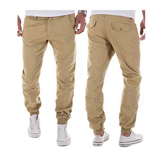 HOSD Fashion 2020 Spring Summer Cargo Outfit Hombre Pure Color Pantalones de Ocio