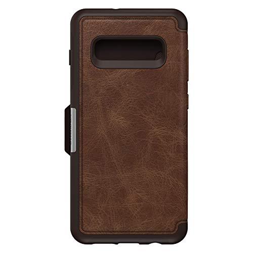 OtterBox Strada Etui - Elegante, sturzsichere Folio Schutzhülle aus echtem Leder für Galaxy S10+, braun
