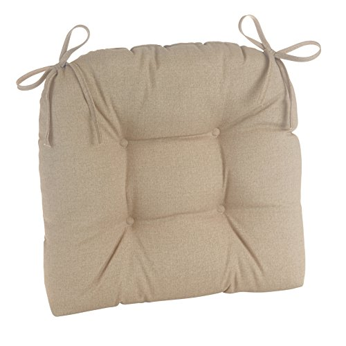 Klear Vu Wicker Solarium Indoor/Outdoor Tufted Patio Chair Cushions, 1 Pack, Husk Birch