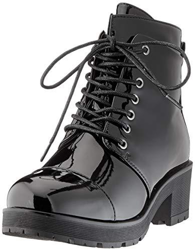 Pieces Psdakota Patent Boot, Botines Femme, Noir(Black Black), 36 EU