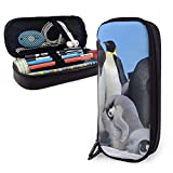 XCNGG Estuche para lápices neceser Stationery Stylish Simple Pencil Bag and Durable Zipper Pencil Case Pouch Makeup Bag for Girls Kids - Emperor Penguin Clicks