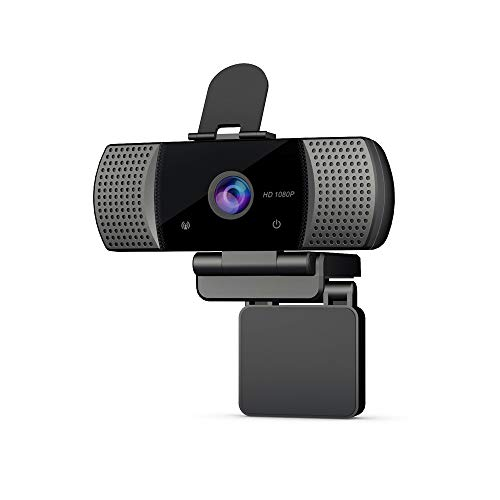 KOGOLIKE Webcam PC Full HD 1080P con Micrófono, USB 2.0 Cámara Web, con Webcam Cover Y trípode para Portátil...