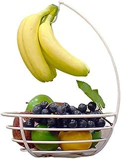 MCE Fruitmand banaan hanger fruitschaal multifunctionele keuken en woonkamer opslag fruit opslag (Color : White)