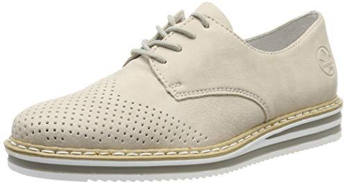 Rieker N0229-60, Zapatos de Cordones Derby para Mujer, Beige (Muschel 60), 42 EU