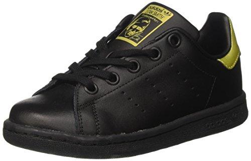 adidas Stan Smith, Scarpe da Ginnastica Basse Unisex-Adulto, Nero (Core Black/Core Black/Gold Metallic), 36 2/3 EU