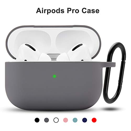 [Airpods Pro Case]The Silicone Case Can Only Fit For Apple Airpods Pro 2019.It Can not Fit For Airpods 1 And Airpods 2 [Support Wireless]With Teyomi Airpods Pro Silicone Case,It doesnot affect The Wireless Charging.And The Front LED Can Visible [Airp...