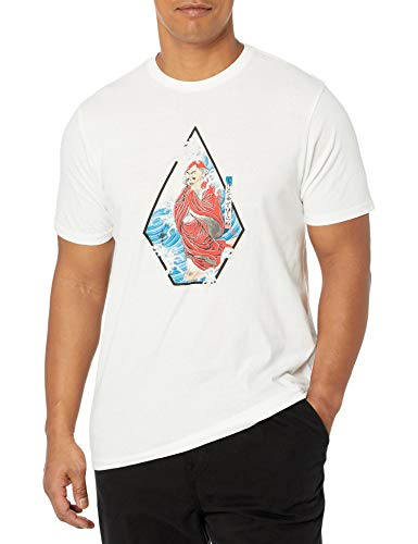 Volcom Men's Nozaka Surf Short Sleeve T Shirt White M