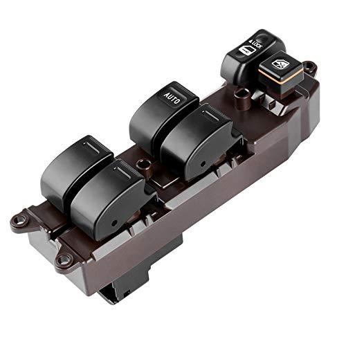 LUOERPI Botones del Interruptor de elevación de la ventanilla del Coche,para Toyota Corolla Matrix 1.8L 2003-2008 Camry 2002-2006, Interruptor de ventanilla eléctrica Principal del Lado del Conductor