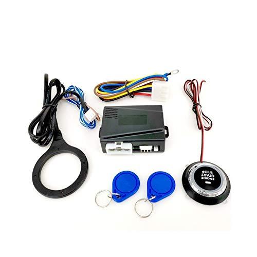 Yxwei Accesorios para automóviles de 12 V Motor Push Push Starts RFID Ignition Starter Keyless Motor Inicio Stop System Push BOTÓN Motor Remoto SQ9002X (Color : Black)