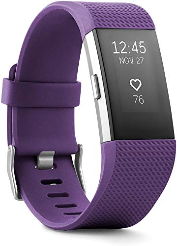 Charge 2 Superwatch Wireless Smart Activity and Fitness Tracker + Heart Rate and Sleep Monitor Smart Wristband(US Version) (Plum, Large (6.7-8.1 Inch))