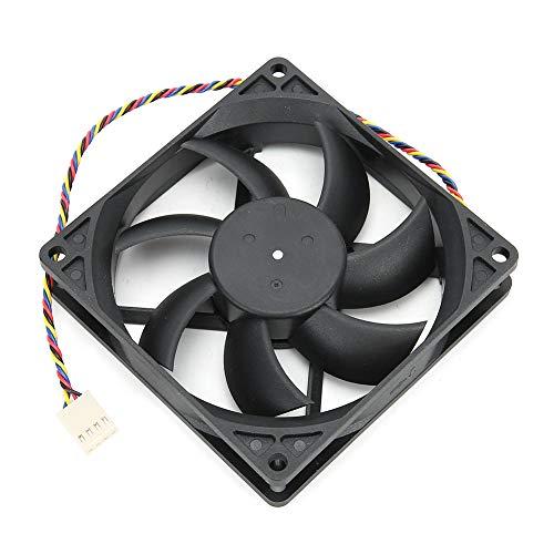 Ventilador del Disipador De Calor 12V 9CM 0.27A Dual Ball 4-Pin PWM Control De Temperatura CPU Enfriador para Chasis - Negro
