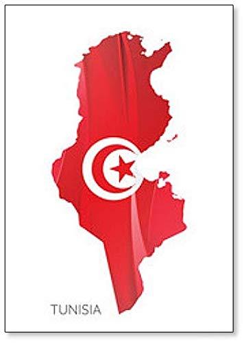 Kühlschrankmagnet mit Nationalflagge von Tunesien
