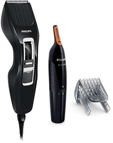 Philips HC3410/85 Haarschneidegerät + Ohrenhaarschneider und Nasentrimmer NEU