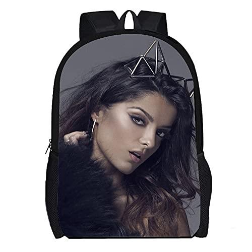 DBCJVB Todo tipo de exquisita mochila con patrón impreso en 3D Tela Oxford 40x30x15cm Música Bebe Rexha Campus mochila escolar viaje al aire libre bolsa ligera para acampar