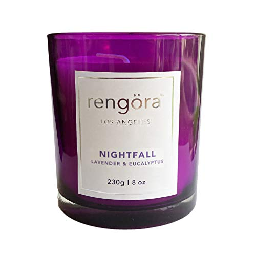 rengöra Candles Gifts for Women - Scented Candle for Home - Long Burning Soy Candle (40+ hrs / 8 oz) (Lavender & Eucalyptus, 230 g)