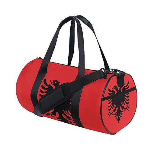 Eslifey Flagge Albanien Fitness Sportbeutel Gym Bag Reisetasche Seesack für Damen und Herren