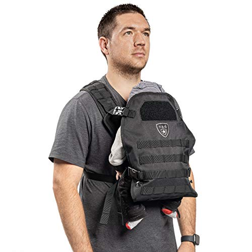TBG - Mens Tactical Baby Carrier for Infants and Toddlers 8-33 lbs - Compact (Black)