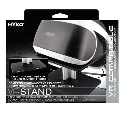 Aufsteller/Ständer für VR-Brillen inkl. vierfach USB-Hub mit Netzteil für Oculus, HTC, Sony Playstation, Samsung, ASUS, HP (VR Stand 89102)
