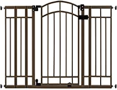"""Summer Multi-Use Decorative Extra Tall Walk-Thru Baby Gate, Metal, Bronze Finish - 36"""" Tall, Fits Openings up to 28.5"""" to 48"""" Wide, Baby and Pet Gate for Doorways and Stairways"""