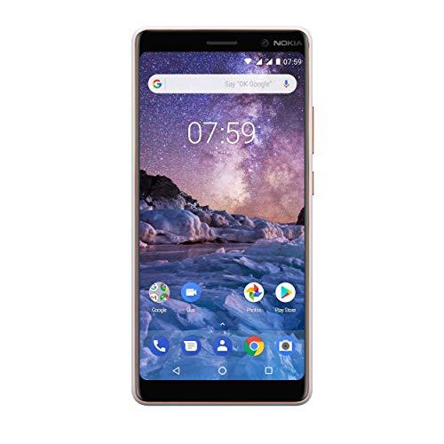 Nokia 7 Plus Smartphone (15,24 cm (6 Zoll), FHD IPS Bildschirm, 64 GB interner Speicher & 4 GB RAM, Dual-SIM, Android 8.0 (Oreo)) weiß
