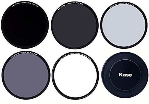 Kase Skyeye 82 mm Magnetischer Pro 4 Filter ND Set MC optisches Glas inkl. CPL, ND8, ND64, ND1000, Objektivdeckel, Gehäuse und Adapter 82