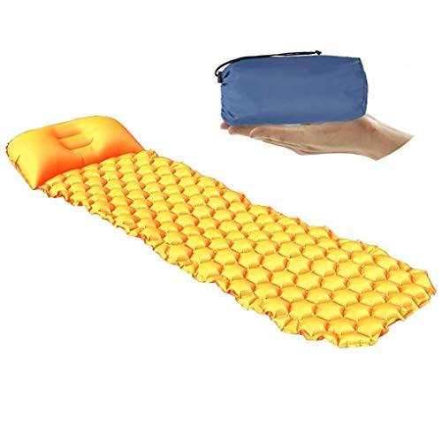 Ultralight Sleeping Pad,Durable, Inflatable, Ultra Compact, Best Sleeping Pads for Backpacking, Camping, Travel, Hiking,Lightweight Camp Sleep Pad Mat Air Mattress,Orange