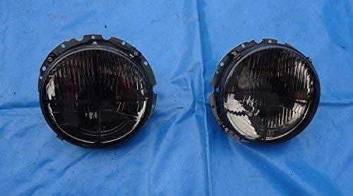 Scheinwerfer Frontscheinwerfer Streuscheibe Golf 1 u Cabrio 1 T2 T3 Caddy 1 dunkel schwarz mit Fadenkreuz