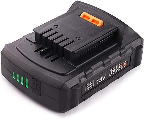 Batería TACKLIFE 18V PPK02B LED 2.0ah Batería para Taladro Strpowor Batería de Iones de Litio LED Pantalla de Voltaje