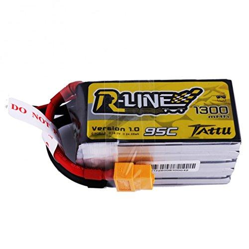 tattu 1300mAh 18.5V 95C 5S1P R de Line Lipo batería Pack con XT60Conector para UAV dron Professional FPV Racing Competición , color/modelo surtido